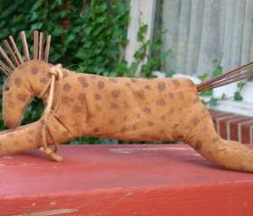 Primitive Running Horse - Shelf Sitter or Tuck - For Your Hutch, Cupboard or Mantel