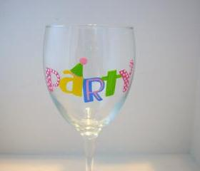 Party Wine Glass Handpainted Personalized