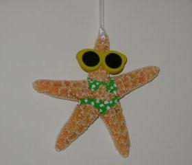 Starfish Bikini Christmas Ornament