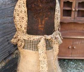 Mammy Sock Stump Doll - Extremely Primitive - Shelf Sitter or Tuck for your Cupboard, Hutch or Mantel