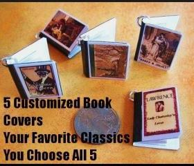 5 Miniature Book Charms-You Choose Your Favorites- Jewelry Making