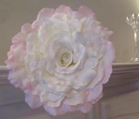 Real Touch Bridal Bouquet - Pale Pink and White Composite Rose