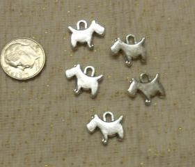 Scottie Dog Charms Lot of 5