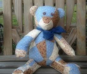 Handmade Patchwork Teddy Bear