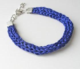 blue silk bracelet