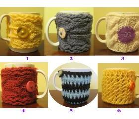 Crochet and knit cup cozy - CKCC#1-#10 $12/each