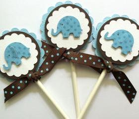 Cupcake Toppers, Baby Boy Cupcake Toppers, Baby Shower Cupcake Toppers, Baby Boy Birthday