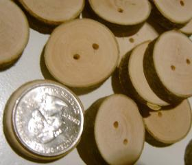 150 Tree Branch Buttons Wooden Wedding Button 1 inch