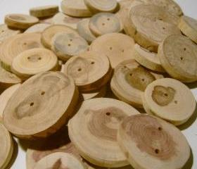 Wooden Button Assotment 50 buttons 1 to 2 inch