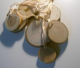 100 Wooden Price Tag Hang Tag Assorted 1 to 2 inch