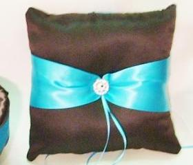 ring bearer pillow chocolate brown