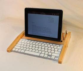 iPad Workstation - Keyboard - Tablet Dock - Maple - iPad, IPhone, Tablet Bluetooth Keyboard Computer Desktop Workstation