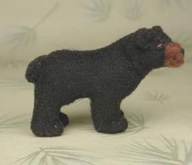Black Bear Cub Soft Sculpture Miniature