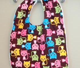 Toddler Bib Cat Kitten Bib Terry Cloth