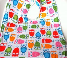 Owl Baby Toddler bib large