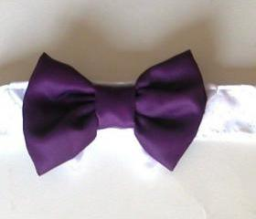 Dog Wedding Bow Tie: Purple Eggplant