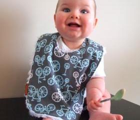 Baby bib Chenille Bib Bicycle Hipster