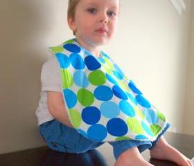 baby bib Bright Blue Boy Toddler
