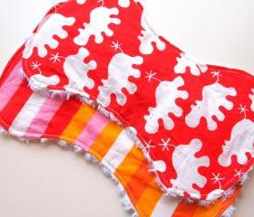 baby burp cloths - set of 2