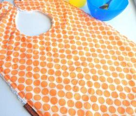 tangerine baby bib toddler bib orange