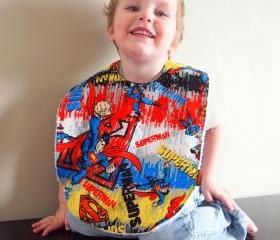 superman bib baby toddler