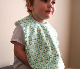 baby bib toddler bib aqua raindrops