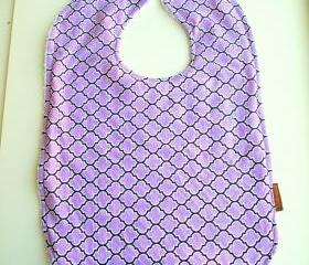 Baby bib Toddler lilac girls cotton terry cloth snap bib pretty