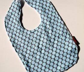 bibs for babies blue Baby bib Minky amy butler polka dot cotton