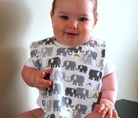 Baby bib elephants Minky bib summer children