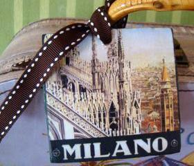 Milan Vintage Style Customized Luggage Tag