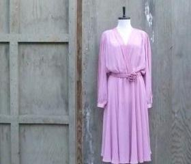 1980s Pink Working Girl Dress