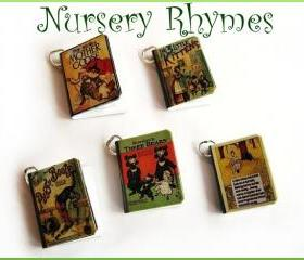 Set of all 5 Old Nursery Rhymes Miniature Book Charms
