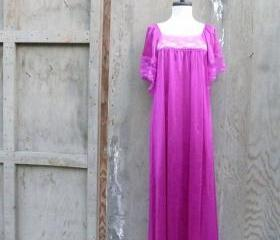 Vintage Boho Nightgown Maxi Dress