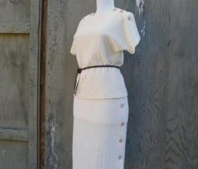 1960s 2 Piece Set Blouse and Skirt