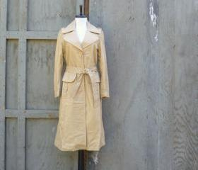 1970s Leather Trenchcoat