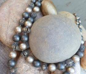 Necklace- Double Strand Resin Bead