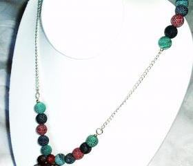 Agate beady bead Necklace