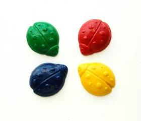 Ladybug Party Favors - Package of 12 Ladybug Shaped Crayons