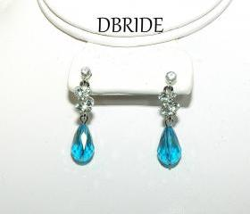 Teardrop Crystal Earrings - Bridal Earrings, Bridesmaids Jewelry