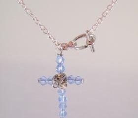 Crystal cross bracelet