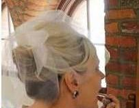 Birdcage Veil Weddings, Double Layer Blusher, Ivory Illusion Tulle Veil, Carolina Moon Designs