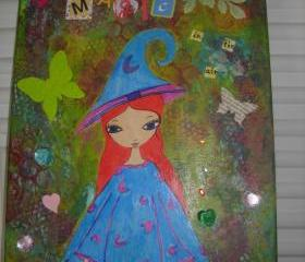 There is mAgIC in the air...-mixed media painting on canvas