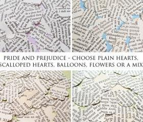 1000 x Pride and Prejudice Confetti - Choice of 4 shapes - Great for Weddings, Invites, Decor, Favours