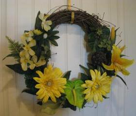 SALE Summer Sunflower Wreath
