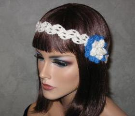 Handmade Crocheted Cotton Headband