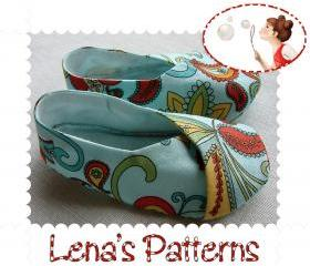 PDF Sewing Pattern Kimono Baby Shoes 6 sizes DIY