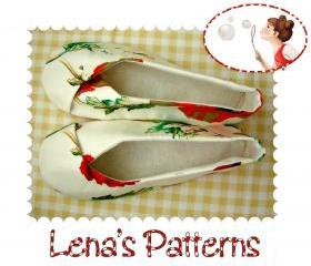 Easy Sewing Pattern for Woman's Kimono Shoes