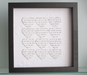 Personalised Text Hearts Frame - Perfect for Engagements, Weddings, or Anniversaries - Elegant Flourish Background