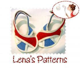 Baby Sandals Sewing Pattern - French Chic sandals - booties - PDF