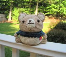 Crochet Bear Doll/Container - CB1